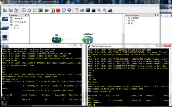Using the Cisco CSR1000V in GNS3 With VirtualBox | Herding